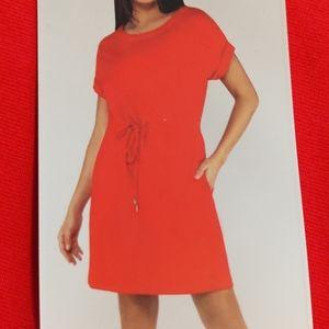 2/$25 NWT Red Drawstring Waist Dress XXL